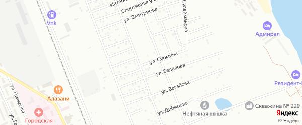 Улица Сурмина на карте Избербаша с номерами домов