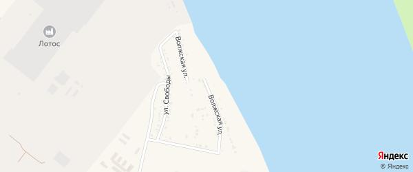 Волжская улица на карте Волжского села с номерами домов