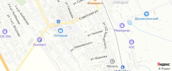 Улица Чкалова на карте Избербаша с номерами домов