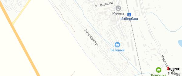 Загородная улица на карте Избербаша с номерами домов