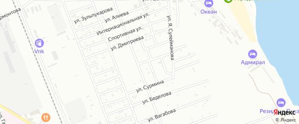 Улица Р.Гамзатова на карте Избербаша с номерами домов