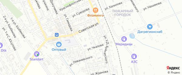 Улица Терешковой на карте Избербаша с номерами домов