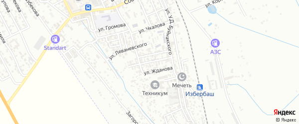 Улица Матросова на карте Избербаша с номерами домов