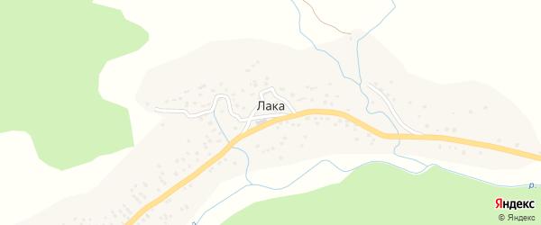 Улица Гаджикент на карте села Лаки с номерами домов