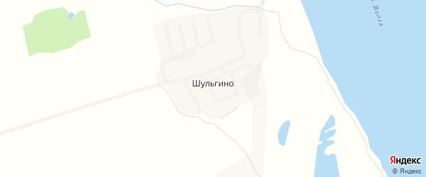 Карта деревни Шульгино в Чувашии с улицами и номерами домов
