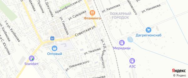 Садовая улица на карте Избербаша с номерами домов