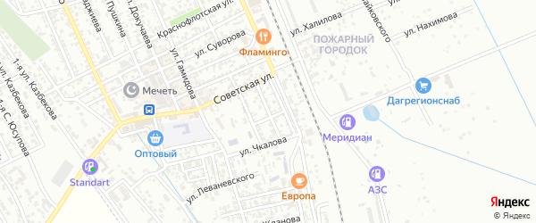 Улица М.Б.Багандалиева на карте Избербаша с номерами домов
