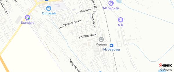 Улица Жданова на карте Избербаша с номерами домов