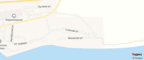 Степная улица на карте поселка Красные Баррикады с номерами домов