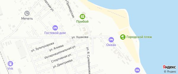 Приморская улица на карте Избербаша с номерами домов