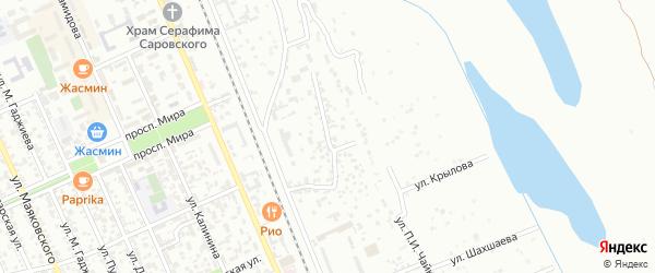 Серная улица на карте Избербаша с номерами домов