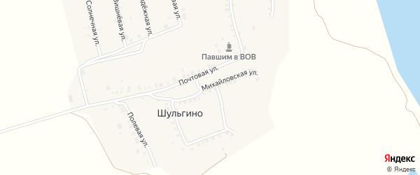 Михайловская улица на карте деревни Шульгино с номерами домов