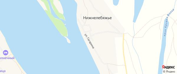 Карта села Нижнелебяжьего в Астраханской области с улицами и номерами домов