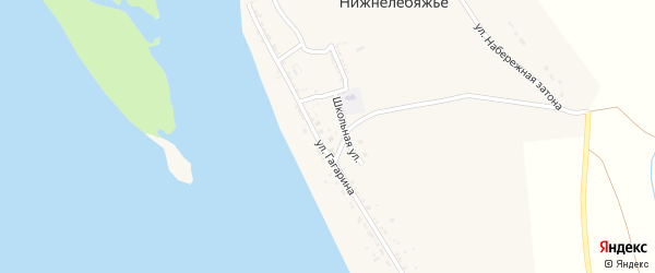 Улица Гагарина на карте села Нижнелебяжьего с номерами домов