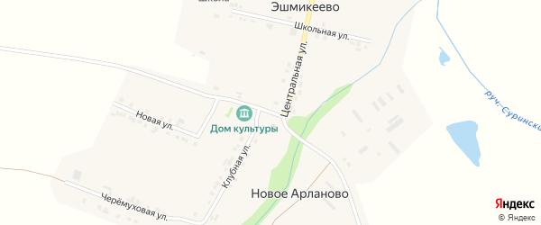 Больничная улица на карте села Эшмикеево с номерами домов