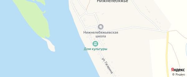 Школьная улица на карте села Нижнелебяжьего с номерами домов