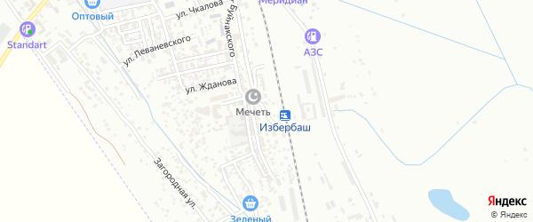 Железнодорожная улица на карте Избербаша с номерами домов