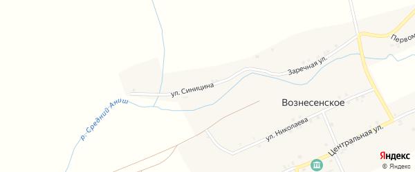 Улица Синицина на карте Вознесенского села с номерами домов