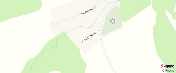 Хуторская улица на карте села Кушниково с номерами домов