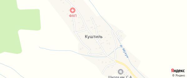 Южная улица на карте села Куштиля с номерами домов