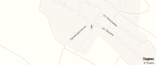 Пролетарская улица на карте деревни Нижарово с номерами домов