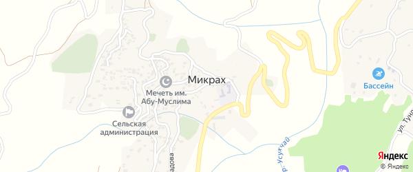 Улица Гаджимурадова на карте села Микраха с номерами домов