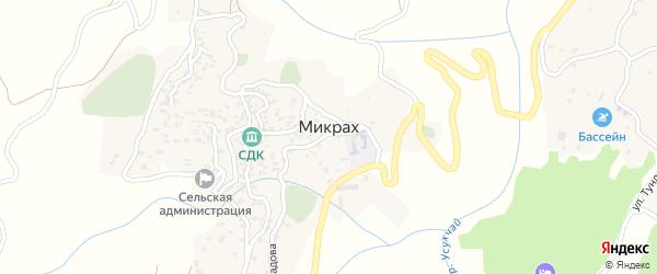 Улица Кельбиханова на карте села Микраха с номерами домов