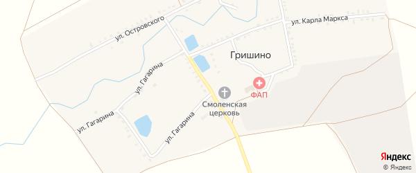 Первомайская улица на карте села Гришино с номерами домов