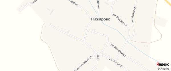 Улица Гагарина на карте деревни Нижарово с номерами домов