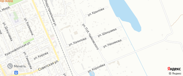 Улица П.И.Чайковского на карте Избербаша с номерами домов
