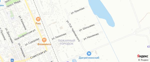 Улица Чайковского на карте села Какашуры с номерами домов