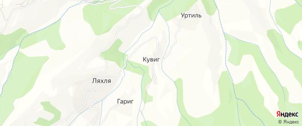 Карта села Кувига в Дагестане с улицами и номерами домов