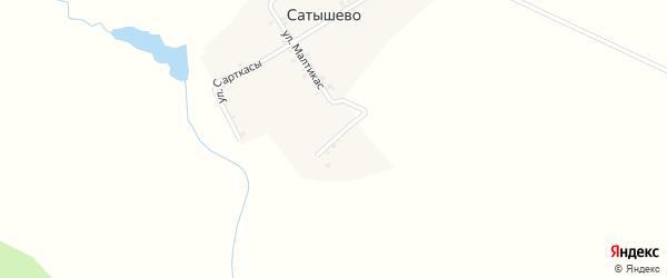 Улица Хуранпус на карте деревни Сатышево с номерами домов