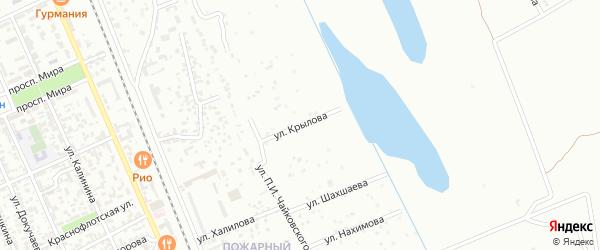 Улица Крылова на карте Избербаша с номерами домов