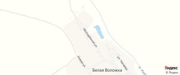 Молодежная улица на карте деревни Белой Воложки с номерами домов