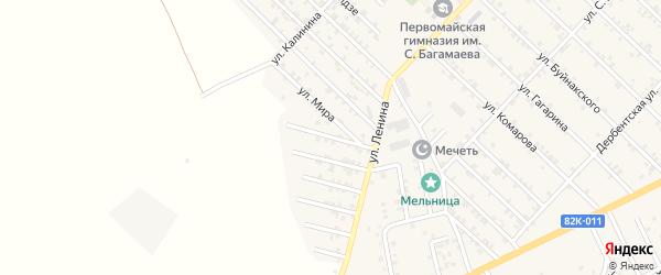 Улица Механизаторов на карте Первомайского села с номерами домов