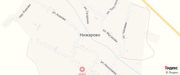 Садовая улица на карте деревни Нижарово с номерами домов