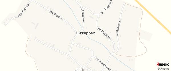 Улица Мусакова на карте деревни Нижарово с номерами домов