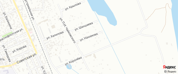 Улица П.С.Нахимова на карте Избербаша с номерами домов
