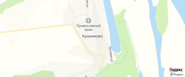 Карта села Кушниково в Чувашии с улицами и номерами домов