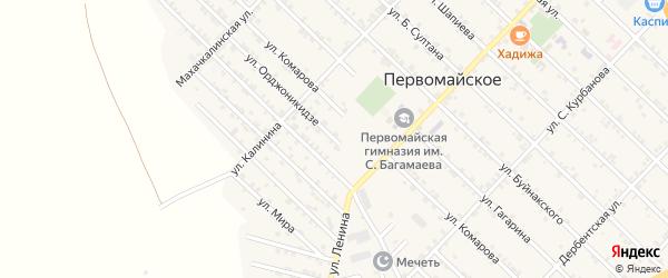 Улица Орджоникидзе на карте Первомайского села с номерами домов