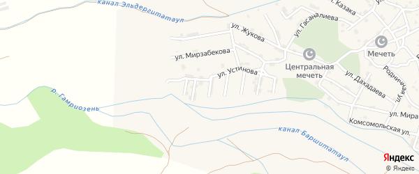 Улица А.Байрамалиева на карте села Каякента с номерами домов
