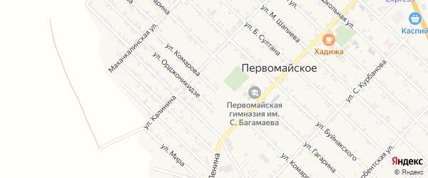 Улица Комарова на карте Первомайского села с номерами домов