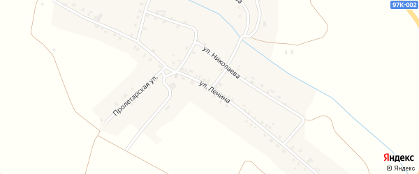 Улица Ленина на карте деревни Нижарово с номерами домов