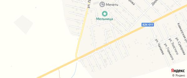 Учабулакская улица на карте Первомайского села с номерами домов