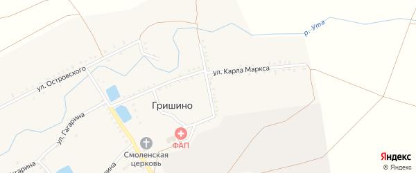 Улица Чапаева на карте села Гришино с номерами домов