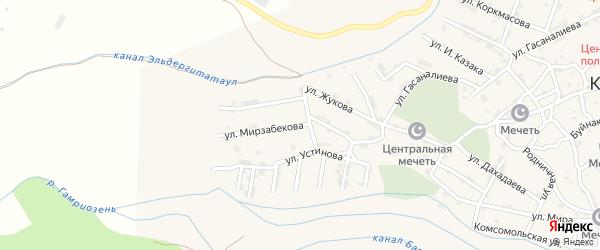 Улица Мирзабекова на карте села Каякента с номерами домов