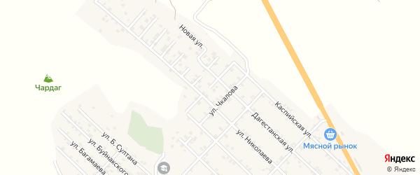 Улица Магомедгаджиева на карте Первомайского села с номерами домов