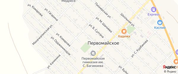 Улица Буйнакского на карте Первомайского села с номерами домов