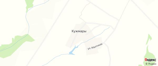 Карта деревни Кужмар в Чувашии с улицами и номерами домов